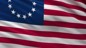 Drapeau de Betsy Ross - boucle sans couture banque de vidéos