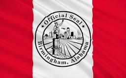 Drapeau de Birmingham, Alabama, Etats-Unis Photographie stock libre de droits