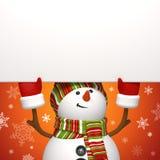 Drapeau de bonhomme de neige Photographie stock libre de droits