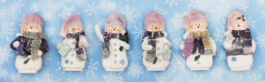 Drapeau de bonhomme de neige Image stock