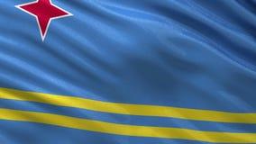 Drapeau de boucle sans couture d'Aruba Image libre de droits