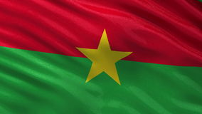 Drapeau de boucle sans couture du Burkina Faso banque de vidéos