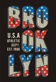02 Drapeau de Brooklyn de typographie, Illustration Libre de Droits