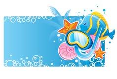 Drapeau de bulle Photographie stock libre de droits