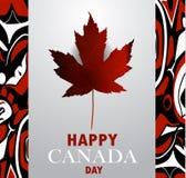 Drapeau de Canada le jour national du Canada illustration libre de droits