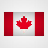 Drapeau de Canada sur un fond gris Illustration de vecteur illustration stock
