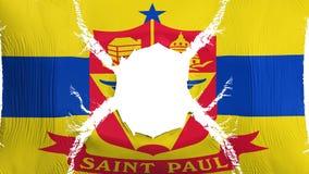Drapeau de capitale de Saint Paul avec un trou illustration de vecteur