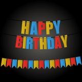 Drapeau de carnaval de carte de joyeux anniversaire illustration libre de droits