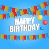 Drapeau de carnaval de carte de joyeux anniversaire illustration de vecteur