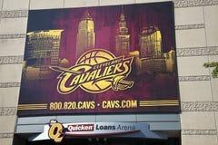 Drapeau de cavaliers de Cleveland Image stock