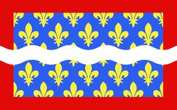 Drapeau de Cher, France illustration libre de droits