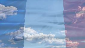 Drapeau de ciel de Frances clips vidéos