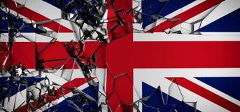 Drapeau de concept du Royaume-Uni illustration de vecteur