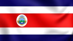 Drapeau de Costa Rica illustration stock