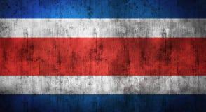 Drapeau de Costa Rica chiffonné par grunge rendu 3d Images libres de droits