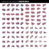 Drapeau de Costa Rica, illustration de vecteur Photos stock