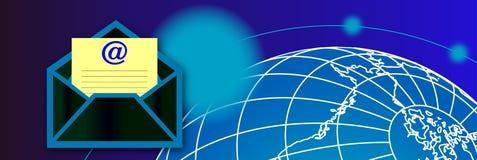 Drapeau de courrier Image stock