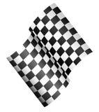 Drapeau de course - drapeau 3d à carreaux Illustration de Vecteur