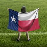Drapeau de femmes et de Texas illustration de vecteur