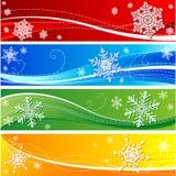 Drapeau de flocon de neige de l'hiver image libre de droits