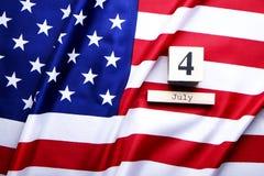 Drapeau de fond des Etats-Unis d'Amérique pour la célébration fédérale nationale de vacances du Jour de la Déclaration d'Indépend Image libre de droits
