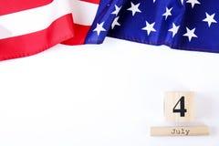 Drapeau de fond des Etats-Unis d'Amérique pour la célébration fédérale nationale de vacances du Jour de la Déclaration d'Indépend Photos libres de droits