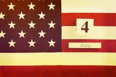 Drapeau de fond des Etats-Unis d'Amérique pour la célébration fédérale nationale de vacances du Jour de la Déclaration d'Indépend Image stock