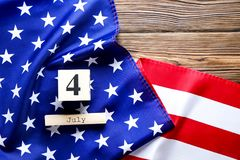 Drapeau de fond des Etats-Unis d'Amérique pour la célébration fédérale nationale de vacances du Jour de la Déclaration d'Indépend Photos stock