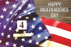 Drapeau de fond des Etats-Unis d'Amérique pour la célébration fédérale nationale de vacances du Jour de la Déclaration d'Indépend Photographie stock libre de droits