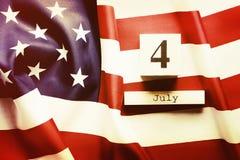 Drapeau de fond des Etats-Unis d'Amérique pour la célébration fédérale nationale de vacances du Jour de la Déclaration d'Indépend Images libres de droits
