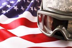 Drapeau de fond des Etats-Unis d'Amérique pour la célébration fédérale nationale de vacances et le jour de deuil de souvenir Symb images stock