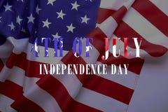 Drapeau de fond des Etats-Unis d'Amérique pour la célébration fédérale nationale de vacances et le jour de deuil de souvenir Symb Photos libres de droits