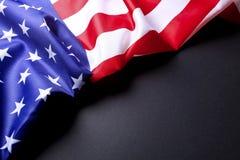 Drapeau de fond des Etats-Unis d'Amérique pour la célébration fédérale nationale de vacances et le jour de deuil de souvenir Symb Image libre de droits