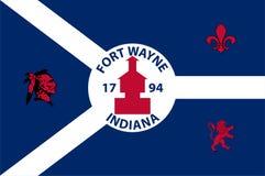 Drapeau de Fort Wayne aux Etats-Unis illustration libre de droits