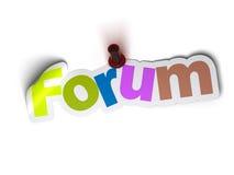 Drapeau de forum Photographie stock libre de droits