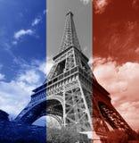 Drapeau de Français de Tour Eiffel de Paris Photos libres de droits