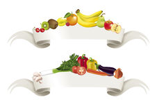 Drapeau de fruits de légumes Image libre de droits