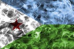 Drapeau de fumée de Djibouti Photos stock