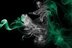 Drapeau de fumée du Nigéria Photographie stock libre de droits