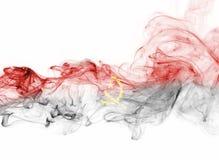 Drapeau de fumée de l'Angola Photographie stock