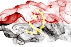 Drapeau de fumée de l'Angola Photo libre de droits