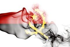 Drapeau de fumée de l'Angola Images libres de droits