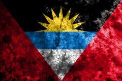 Drapeau de fumée de l'Antigua-et-Barbuda Photographie stock libre de droits