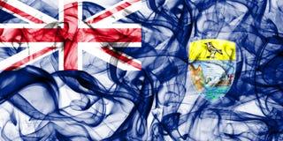 Drapeau de fumée de la Ste.Hélène, territoires d'outre-mer britanniques, drapeau de territoire non autonome de la Grande-Bretagne photo libre de droits