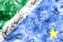Drapeau de fumée de Mato Grosso do Sul, états au Brésil illustration de vecteur