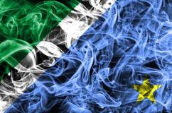Drapeau de fumée de Mato Grosso do Sul, états au Brésil illustration libre de droits