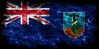 Drapeau de fumée de Montserrat, territoires d'outre-mer britanniques, département de la Grande-Bretagne illustration stock