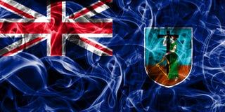 Drapeau de fumée de Montserrat, territoires d'outre-mer britanniques, département de la Grande-Bretagne illustration libre de droits