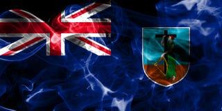 Drapeau de fumée de Montserrat, territoires d'outre-mer britanniques, département de la Grande-Bretagne illustration de vecteur