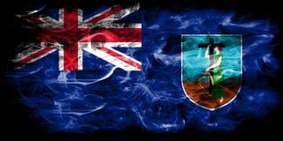 Drapeau de fumée de Montserrat, territoires d'outre-mer britanniques, drapeau de territoire non autonome de la Grande-Bretagne illustration de vecteur